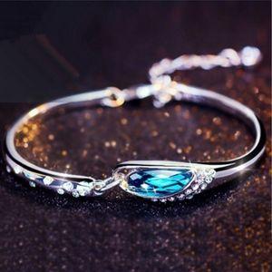 Blue Topaz Crystal Zircon Bracelet